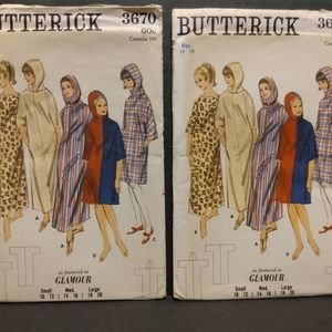 Vintage BUTTERICK #3670 Sewing Patterns/ UNCUT
